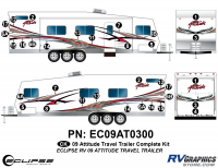 Attitude - 2009 Attitude Toyhauler Trailer - 2009 Attitude Travel Trailer Complete Graphics Kit