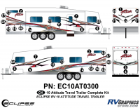 Attitude - 2010 Attitude Toyhauler Trailer - 2010 Attitude Travel Trailer Complete Graphics Kit