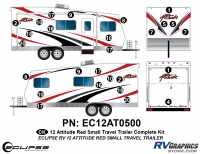 2012 RED Attitude Sm Travel Trailer Complete Graphics Kit