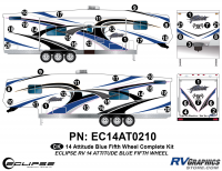 Attitude - 2014 FW-Fifth Wheel Blue - 2014 BLUE Attitude Fifth Wheel Complete Graphics Kit