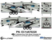 Attitude - 2014 FW-Fifth Wheel Gray - 2014 Gray Attitude Fifth Wheel Complete Graphics Kit