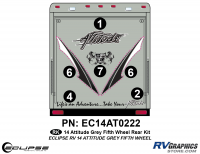 Attitude - 2014 FW-Fifth Wheel Gray - 2014 Gray Attitude Fifth Wheel Rear Graphics Kit