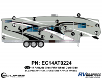 Attitude - 2014 FW-Fifth Wheel Gray - 2014 Gray Attitude Fifth Wheel Right Side Graphics Kit