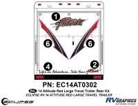 Attitude - 2014 Lg TT-Red - 2014 RED Attitude Lg Travel Trailer Rear Graphics Kit