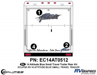 Attitude - 2014 Sm TT Blue - 2014 BLUE Attitude Sm Travel Trailer Rear Graphics Kit