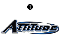 Attitude - 2014.5 FW-Fifth Wheel Blue - Large Attitude Logo 69.75""
