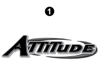 Attitude - 2015 Sm TT-Gray on Gray - Large Attitude Logo 69.75""