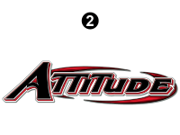 Attitude - 2014.5 FW-Fifth Wheel Red - Small Attitude Logo 54""