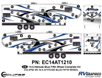 Attitude - 2014.5 FW-Fifth Wheel Blue - 2014.5 Blue Attitude FW Complete Graphics Kit