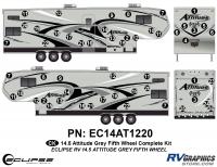 Attitude - 2014.5 FW-Fifth Wheel Gray - 2014.5 Gray on Gray Attitude FW Complete Graphics Kit