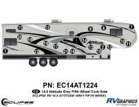 Attitude - 2014.5 FW-Fifth Wheel Gray - 2014.5 Gray on Gray  Attitude FW Right Side Graphics Kit