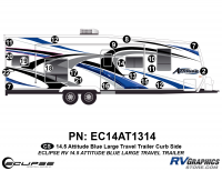 Attitude - 2014.5 Attitude Toyhauler Trailer Lg Blue - 2014.5 Blue Attitude Lg TT Right Side Graphics Kit