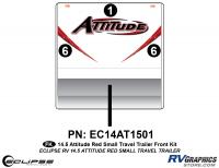 2014.5 Red  Attitude Sm TT Front Graphics Kit