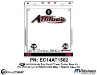 Attitude - 2014.5 Sm TT-Red - 2014.5 Red  Attitude Sm TT Rear Graphics Kit