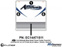 2014.5 Blue  Attitude Sm TT Front Graphics Kit