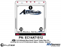 Attitude - 2014.5 Sm TT Blue - 2014.5 Blue  Attitude Sm TT Rear Graphics Kit