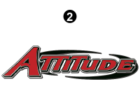 Attitude - 2015 FW-Fifth Wheel Red - Small Attitude Logo 54""