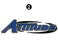 "Attitude - 2015 Attitude Toyhauler Trailer Lg Blue - Small Attitude Logo 54"""