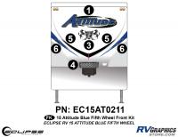 Attitude - 2015 FW-Fifth Wheel Blue - 2015 Blue Attitude FW Front Graphics Kit