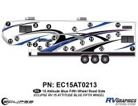 Attitude - 2015 FW-Fifth Wheel Blue - 2015 Blue Attitude FW Left Side Graphics Kit