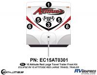 Attitude - 2015 Lg TT-Red - 2015 Red Attitude Lg TT Front Graphics Kit