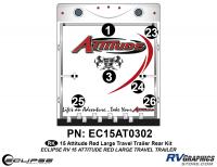 Attitude - 2015 Lg TT-Red - 2015 Red Attitude Lg TT Rear Graphics Kit