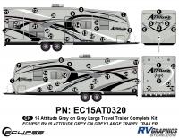 Attitude - 2015 Lg TT-Gray on Gray - 2015 Gray on Gray Attitude Lg TT Complete Graphics Kit