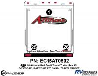 Attitude - 2015 Sm TT-Red - 2015 Red Attitude Sm TT Rear Graphics Kit