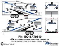 Attitude - 2015 Sm TT-Blue - 2015 Blue Attitude Sm TT Complete Graphics Kit