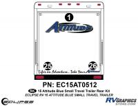 Attitude - 2015 Sm TT-Blue - 2015 Blue Attitude Sm TT Rear Graphics Kit