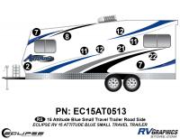 Attitude - 2015 Sm TT-Blue - 2015 Blue Attitude Sm TT Left Side Graphics Kit