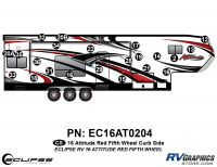 Attitude - 2016 FW-Fifth Wheel Red - 2016 Red Attitude FW Right Side Graphics Kit