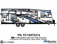 Attitude - 2016 Attitude Toyhauler Trailer Lg Blue - 2016 Blue Attitude Lg Travel Trailer Right Side Graphics Kit