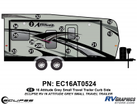 Attitude - 2016 Sm TT-Gray - 2016 Gray Attitude Sm Travel Trailer Right Side Graphics Kit