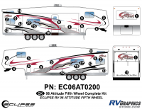 2006 Attitude Fifth Wheel Complete Graphics Kit