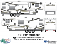 Shockwave - 2012 Shockwave FW-Fifth Wheel - 2012 Shockwave FW Complete Graphics Kit