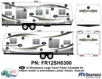 2012 Shockwave Lg Travel Trailer Complete Graphics Kit