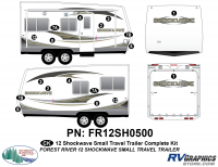 Shockwave - 2012 Shockwave Small TT - 2012 Shockwave Sm Travel Trailer Complete Graphics Kit
