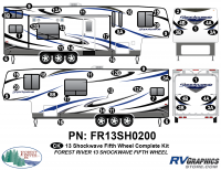 Shockwave - 2013 Shockwave FW-Fifth Wheel - 2013 Shockwave Fifth Wheel Complete Graphics Kit