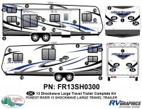 2013 Shockwave Lg Travel Trailer Complete Graphics Kit