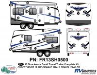 Shockwave - 2013 Shockwave Small TT - 2013 Shockwave Sm Travel Trailer Complete Graphics Kit