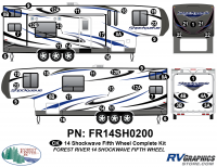 Shockwave - 2014 Shockwave FW-Fifth Wheel - 2014 Shockwave Fifth Wheel Complete Graphics Kit