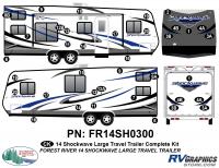 Shockwave - 2014 Shockwave Large TT - 2014 Shockwave Lg Travel Trailer Complete Graphics Kit