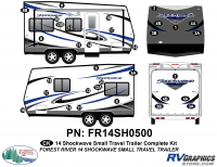 Shockwave - 2014 Shockwave Small TT - 2014 Shockwave Sm Travel Trailer Complete Graphics Kit