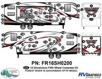 Shockwave - 2016 Shockwave FW-Fifth Wheel - 2016 Shockwave Fifth Wheel Complete Graphics Kit