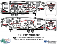 Shockwave - 2017 Shockwave FW-Fifth Wheel - 2017 Shockwave Fifth Wheel Complete Graphics Kit