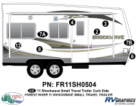 Shockwave - 2011 Shockwave Small TT - 2011 Shockwave Sm Travel Trailer Right Side Graphics Kit