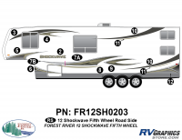 Shockwave - 2012 Shockwave FW-Fifth Wheel - 2012 Shockwave FW Left Side Graphics Kit