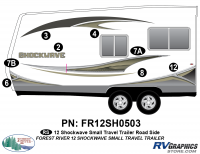 Shockwave - 2012 Shockwave Small TT - 2012 Shockwave Sm Travel Trailer Left Side Graphics Kit