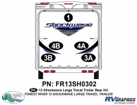 2013 Shockwave Lg Travel Trailer Rear Graphics Kit
